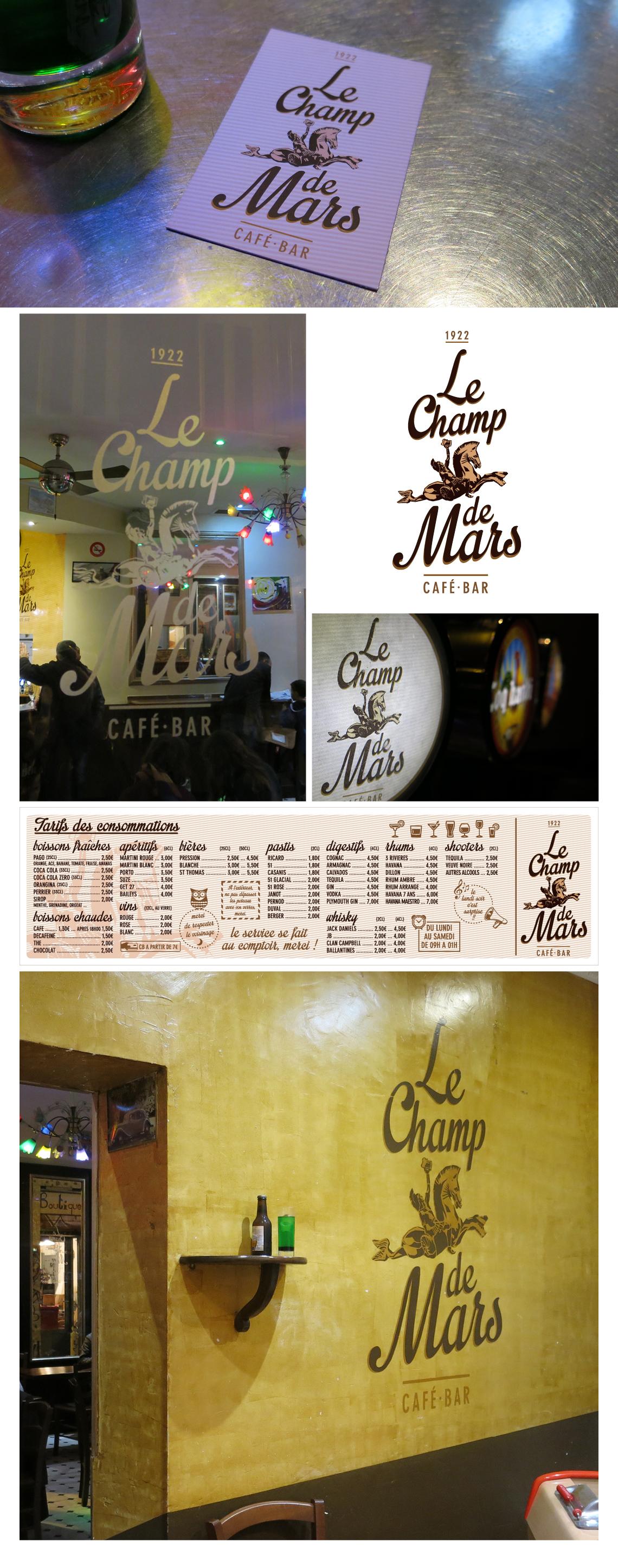 Le Champ de Mars, bar-café